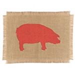 Simrin Farmyard Placemat pig brick