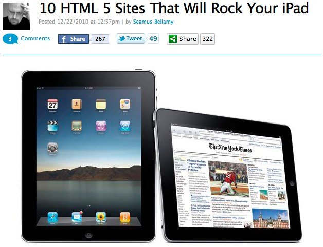 MacLife: 10 HTML 5 Sites That Will Rock Your iPadMac