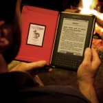 DODOcase for Kindle by fireplace