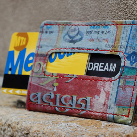 Holstee Recycled Wallet with Metro card