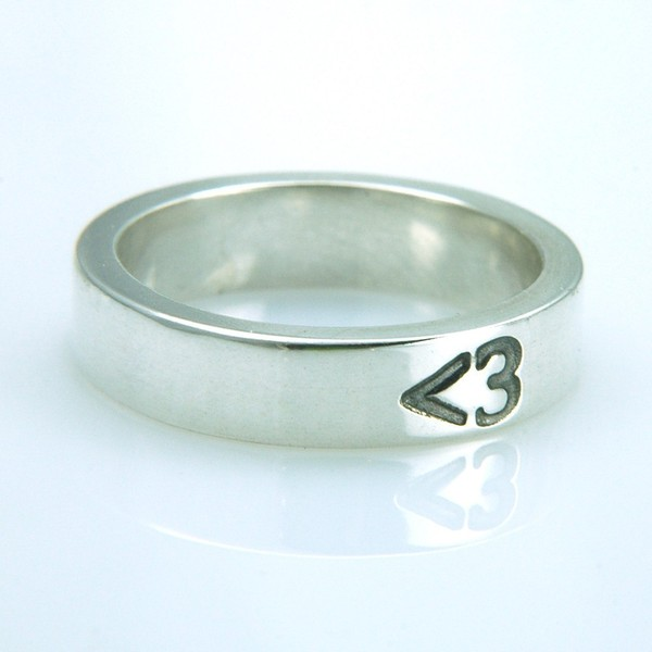Less Than Three Heart Ring by MetalSmitten