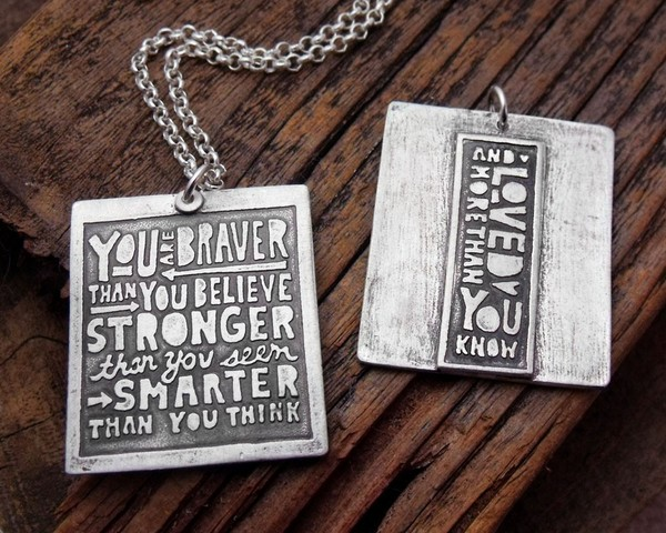 You are Braver Than You Believe Necklace by Lulu Bug