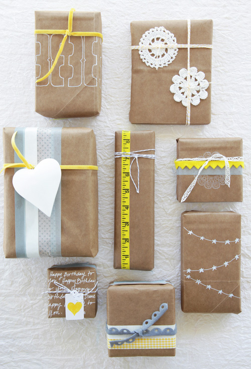 decor8 Color Me Pretty grocery bag gift packaging by Leslie