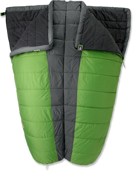 REI Siesta 35 Double Sleeping Bag in Taro Leaf green