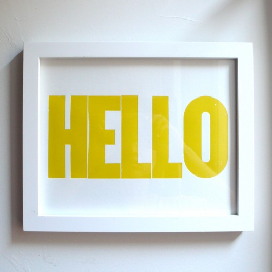 Heartfish Press HELLO print