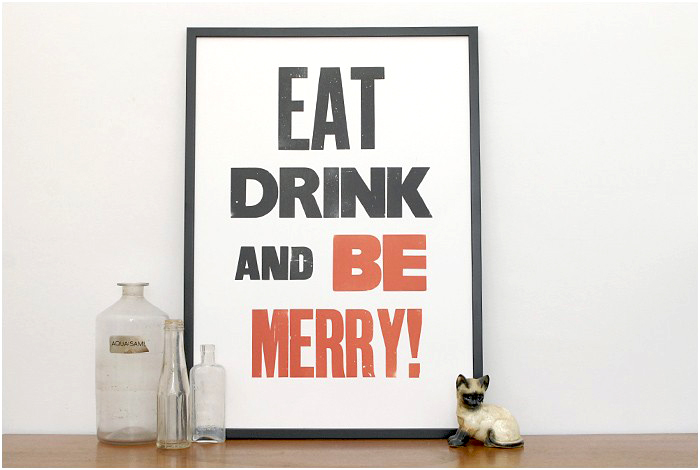 Be Merry print by Hayley & Lucas