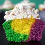 Mardi Gras Cupcakes with Cinnamon Frosting by Erica Sweet Tooth