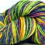 Hand Spun Merino Wool and Tencel Yarn by kittygrriz
