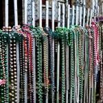 Mardi Gras Beads Canvas Mounted Photograph