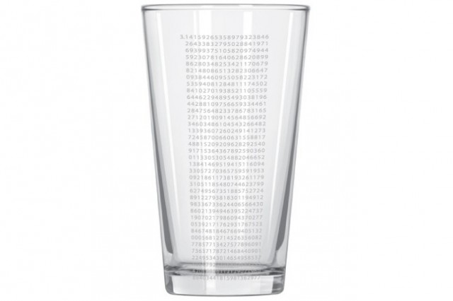 theUncommonGreen Pi Pint Glass by Brian Johnson