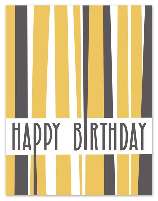 Two Trick Pony birthday stripes card