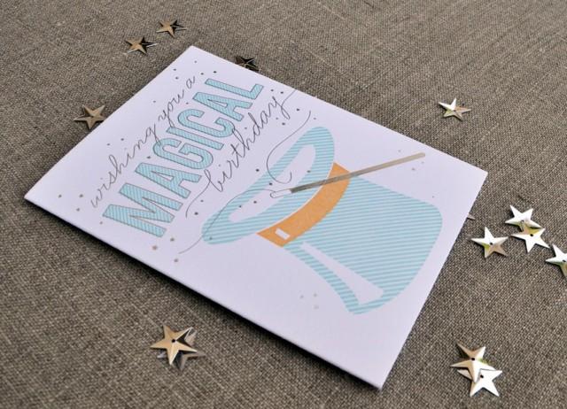 The Social Type magical birthday card