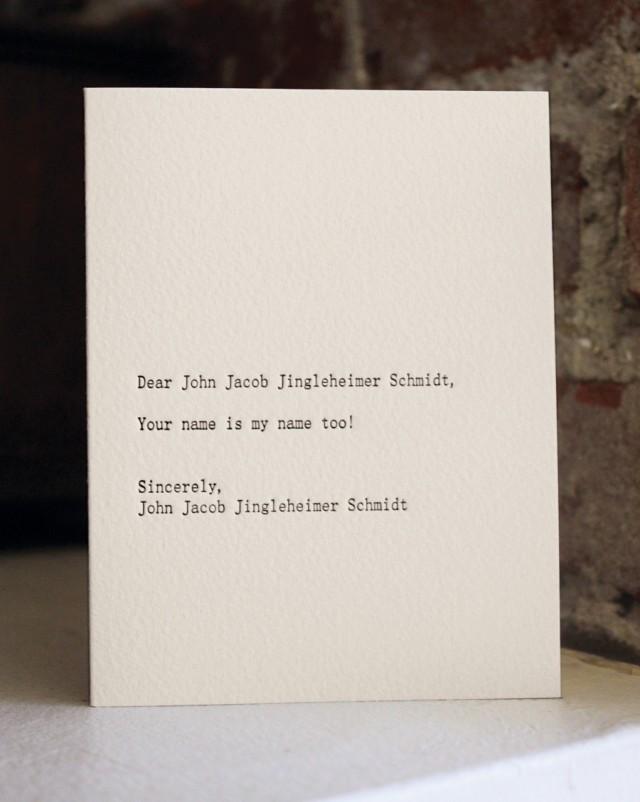 Dear John Jacob by Sapling Press