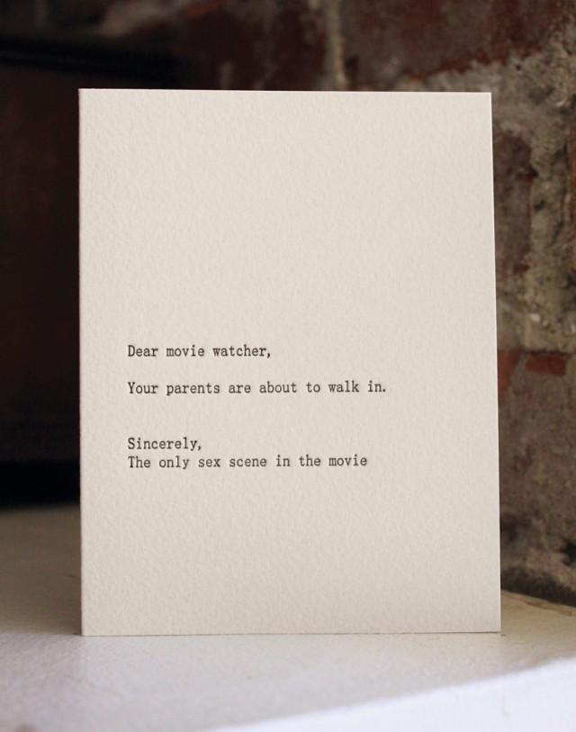 Dear movie watcher by Sapling Press
