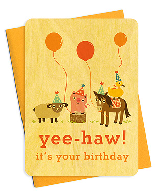 Night Owl Paper Goods Party Animals birthday card