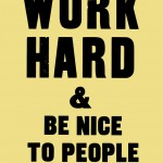 Work Hard by Anthony Burrill