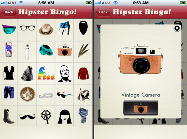 Hipster Bingo