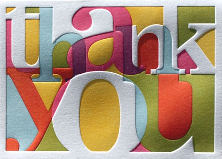 Elum Calypso thank you card