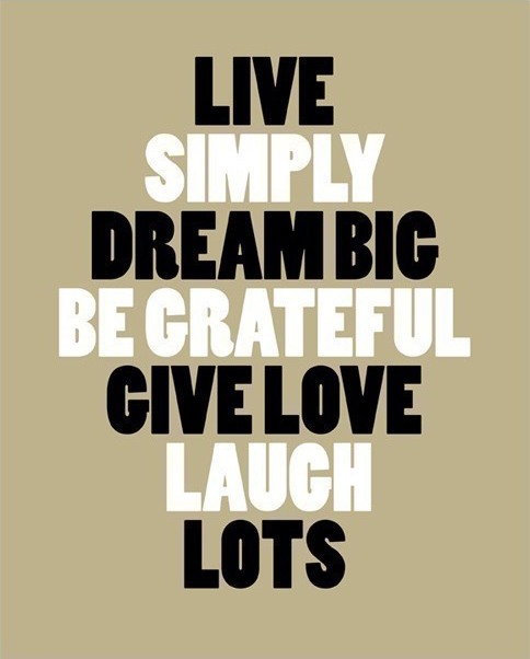 Live Simply print by JJ St. James