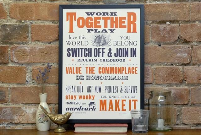 Aardvark Manifesto 2011 by Lesley & Pea