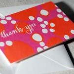 Smock thank you card