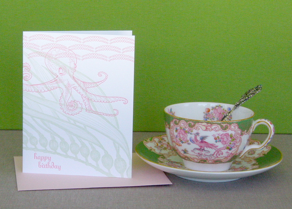 Octopus Birthday Card by Delphine