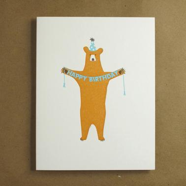 Happy Birthday Bear by Eggpress