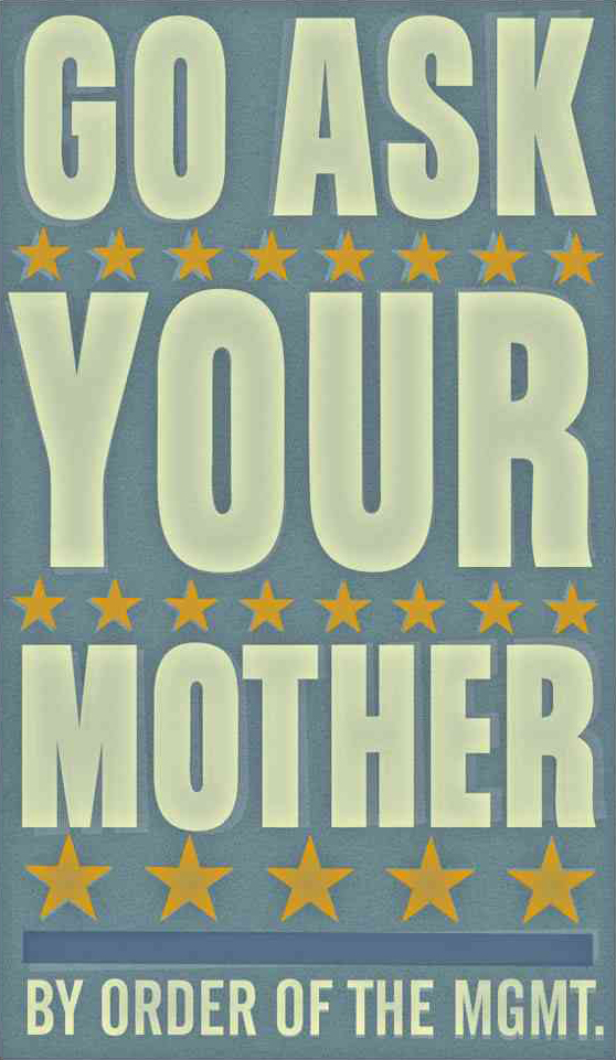 Go Ask Your Mother 6 in x 10 in print