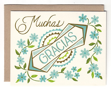 Muchas Gracias Card by Beau Ideal Editions