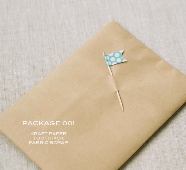 Kraft Paper Toothpick Flag by Sally Shim