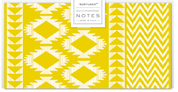 Monarch Note Set in Kilim Weave by Susy Jack