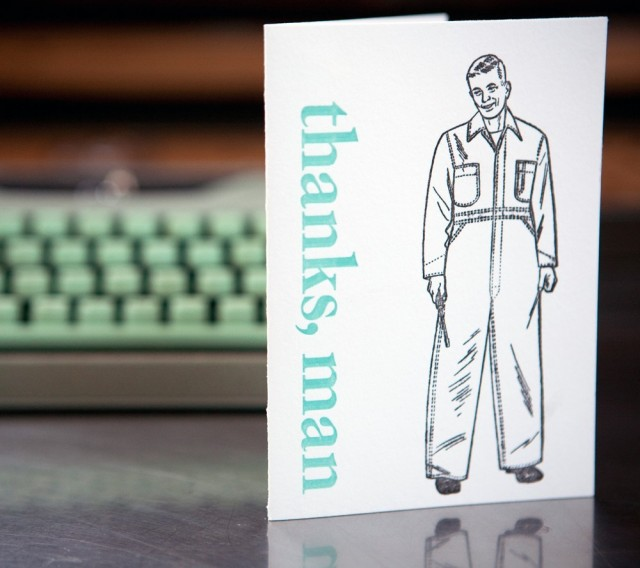 Thanks Man Card Set by Blackbird Letterpress