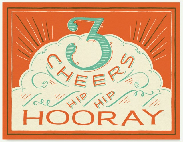 3 Cheers Card by Mary Kate McDevitt