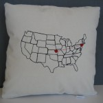 embroidery pillow