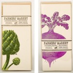Yee Haw Industries Farmers Market Cards - Artichokes and Beets