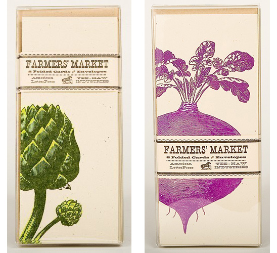 Yee-Haw Industries Farmers Market Cards - Artichokes and Beets