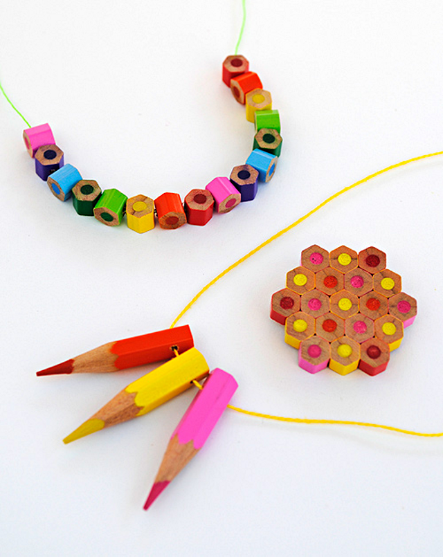 DIY Colored Pencil Jewelry / image credit: Kate Lilley