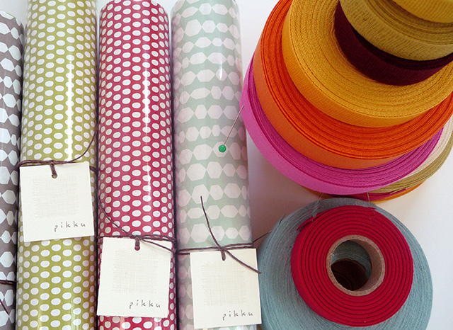 Angela Liguori Wrapping paper and Italian cotton ribbon