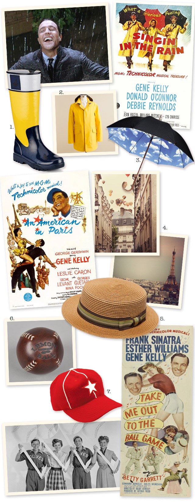 Gift ideas inspired by Gene Kelly films