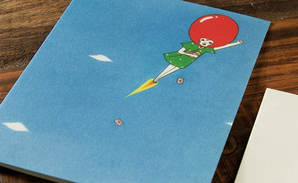 Balloon Girl by Naoshi for Red Cap Cards
