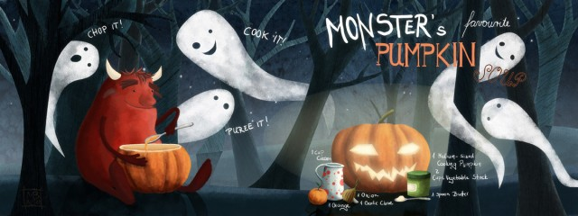 Monsters Favorite Pumpkin Soup by Maria Bogade
