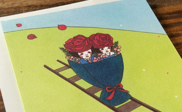 Bouquet Train by Naoshi for Red Cap Cards