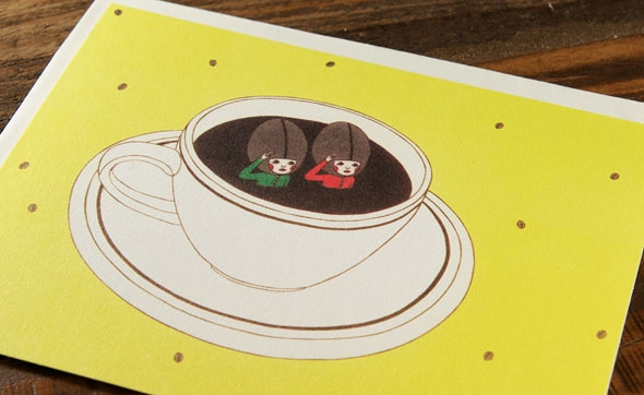 Coffee Boys by Naoshi for Red Cap Cards