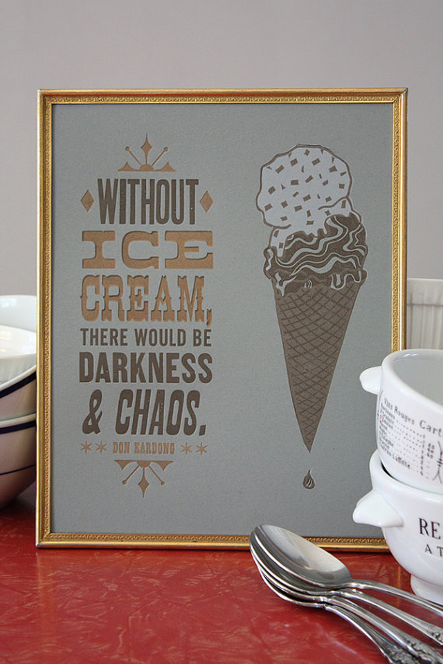 ice cream print art