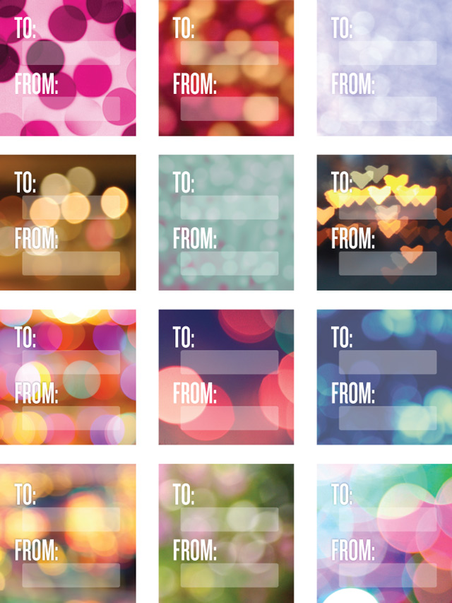 Wantist Bokeh Gift Tag Stickers