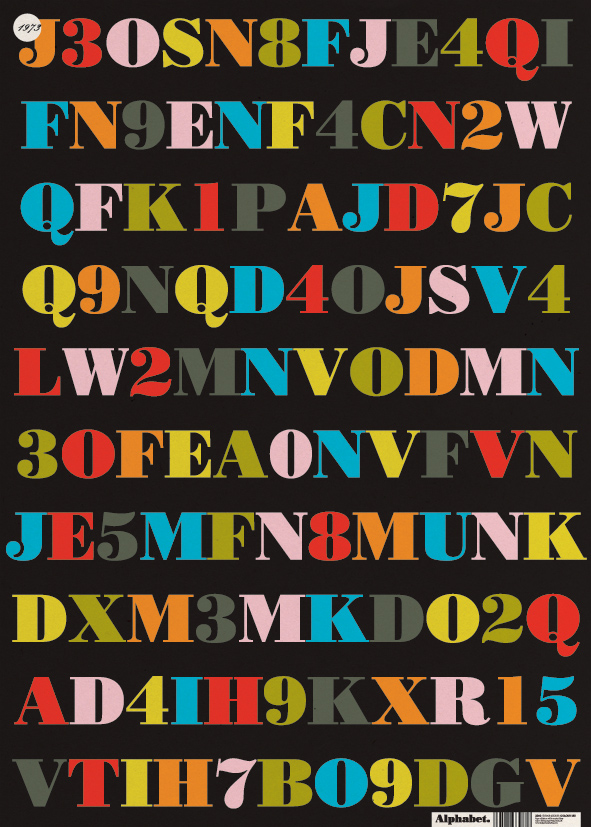 Colour Mix Alphabet Wrapping Paper