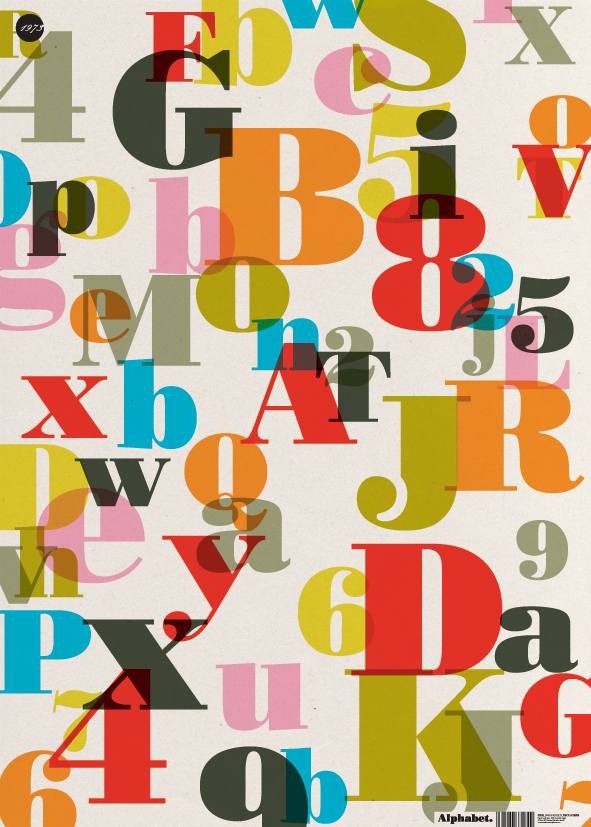 Colour Layers Alphabet Wrapping Paper