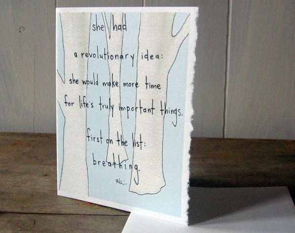 Breathing card by Amy Rubin Flett
