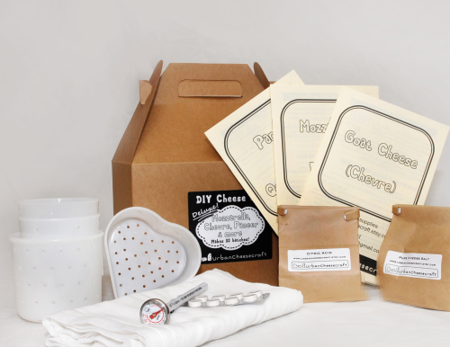 Deluxe DIY Cheese Kit contents