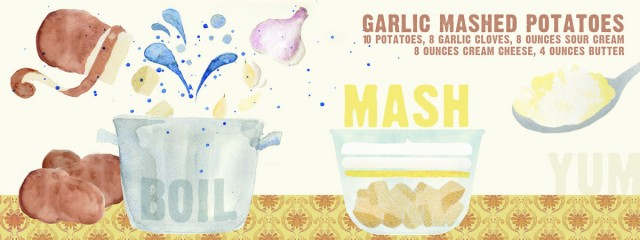 Garlic Mashed Potatoes by Meg Guerin